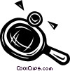 Vector Clip Art graphic  of a ping pong racket and ball