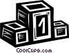 podium Vector Clip Art graphic