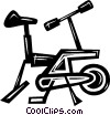 Vector Clip Art image  of a stationary bike