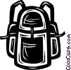 Vector Clip Art graphic  of a knapsack