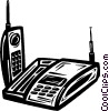 Vector Clipart graphic  of a portable phone