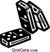 dominos Vector Clip Art graphic