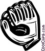 Vector Clip Art image  of a baseball glove
