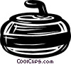 curling rock Vector Clipart illustration