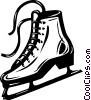 Vector Clip Art image  of a Figure skate