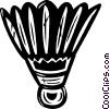 Vector Clip Art image  of a Badminton birdie