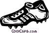 Vector Clip Art graphic  of a shoe/cleat