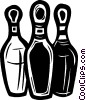 Bowling pins Vector Clipart graphic