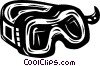 Vector Clip Art graphic  of a goggles
