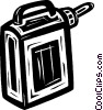 Vector Clip Art picture  of a gasoline container