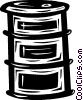 Vector Clip Art picture  of a oil drum