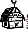Vector Clipart image  of a barn