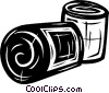 Vector Clip Art image  of a bandages