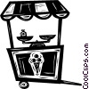 Vector Clipart image  of a ice cream stand