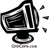 computer monitor Vector Clip Art graphic