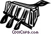 Vector Clipart graphic  of a paper shredder