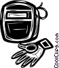 Vector Clip Art image  of a welding equipment