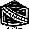 Vector Clip Art picture  of a railway tracks