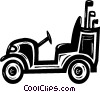 Vector Clipart image  of a golf cart