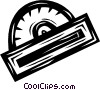 Vector Clip Art image  of a protractor