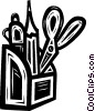 pencil holder Vector Clip Art image