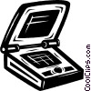 Vector Clip Art image  of a laptop computer