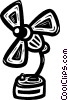Vector Clip Art image  of a electric fan