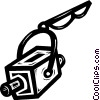 Vector Clip Art graphic  of a surveillance camera