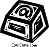 Vector Clipart graphic  of a @ computer key