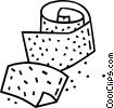 Vector Clip Art image  of a sandpaper