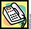 Vector Clip Art image  of a office phone