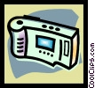 Vector Clip Art picture  of a digital camera