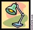 Vector Clip Art image  of a lamp