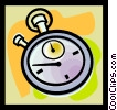 Vector Clipart illustration  of a stopwatch