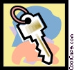 Vector Clipart picture  of a key