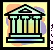 Vector Clip Art picture  of a financial institution