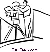 camera man Vector Clipart picture