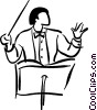Vector Clip Art graphic  of a conductor