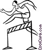 Vector Clipart graphic  of a hurdler