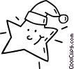 Christmas star Vector Clipart illustration