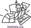 Vector Clip Art picture  of a birthday presents
