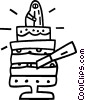 Vector Clipart illustration  of a Wedding cakes