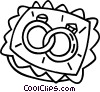 Vector Clipart picture  of a wedding rings