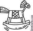 Vector Clip Art graphic  of a hobby horse