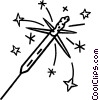 Vector Clip Art graphic  of a sparklers