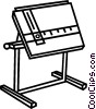 Vector Clipart image  of a drafting table
