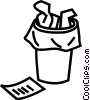 waste paper basket Vector Clip Art picture