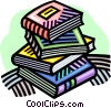 Vector Clipart graphic  of a School books