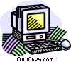 computer Vector Clip Art graphic