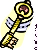 Vector Clipart illustration  of a key